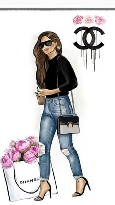 New Fashion Style Quotes Woman Ideas New Fashion, Trendy Fashion, Girl Fashion, Fashion Styles, Fashion Trends, Fashion Design Drawings, Fashion Sketches, Chanel Wallpapers, Wallpaper Wallpapers