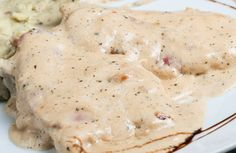 This crock pot meal of baked chicken in a creamy onion sauce is fast, easy to prepare and tastes great.