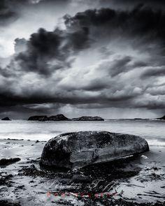 Vigdelstranden by studio-toffa on DeviantArt Image Photography, Norway, Monochrome, Clouds, Deviantart, Landscape, Studio, Travel, Outdoor