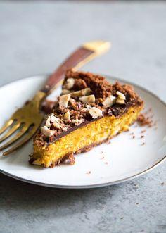 Chocolate Hazelnut Pumpkin Pie