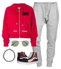 """""""Global warming..."""" by its-me-spencer27 on Polyvore featuring Dsquared2, Off-White, Boohoo, Ray-Ban and Vans"""