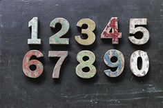 Add a little vintage charm to your home with these distressed wooden numbers, perfect for covered outdoor addresses or indoors to commemorate that special date. Wooden Numbers, Letters And Numbers, Antique Farmhouse, Farmhouse Decor, Farmhouse Style, Cottage Style, July 4th Sale, Ocean Home Decor, Wall Decor Design