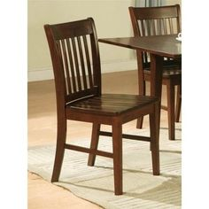 Norfolk Dining Chair in Mahogany Finish - Set of 2 | Jet.com