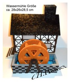 3D Water mill hama beads by Christine Heiner