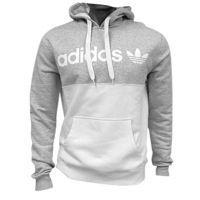 adidas Originals 50/50 Pullover Hoodie - Men's - White / Grey