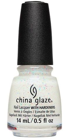 China Glaze Nail Polish, Spritzer Sister 1714 China Glaze Nail Polish, Opi Nail Polish, Nail Hardener, Color Club, Dark Nails, Nail Treatment, Nail Polish Collection, Professional Nails, White Glitter