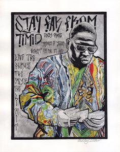 stay far from timid, notorious big, biggie smalls, rap lyrics {watercolor & ink} ashley villers | winterthirteen