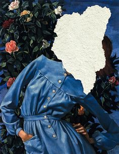 """<p>Digital collage artist Nicholas Mottola Jacobsen likes to fiddle around with classic art paintings on the computer, giving them the illusion of being torn. """"I invent nothing, but I guess ever"""