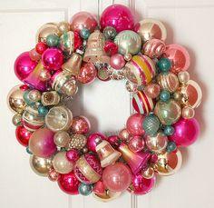 Vintage Ornament Wreath Shiny Brite | www.georgiapeachezwrea… | Flickr