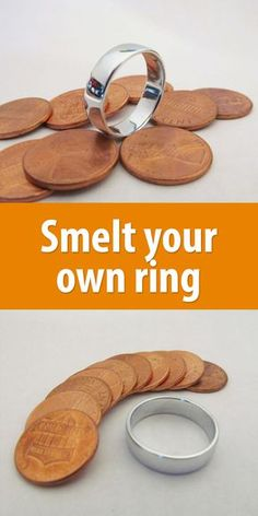 Smelt the copper coating off a penny, leaving you with zinc. Pennies minted after 1983 are all made like this.