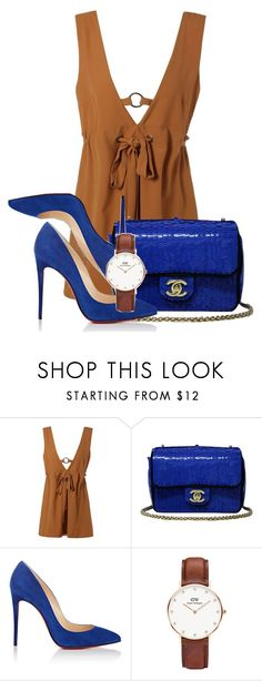 """Untitled #173"" by kweencupcake08 on Polyvore featuring Chanel, Christian Louboutin and Daniel Wellington"