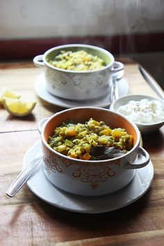 "Mung Bean and Basmati Porridge (Kichdi) by Olga Irez. ""When someone says ""superfood"" I think of the nourishing and wisely composed meals like this rather than a chia seed pudding with blueberries""."