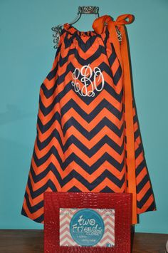 Auburn Chevron Pillowcase dress via Etsy