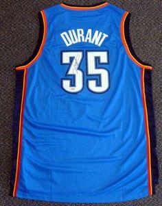 Kevin Durant Oklahoma City Thunder NBA Hand Signed Authentic Style Blue  Jersey  423.95 Thunder Nba 32b550f51