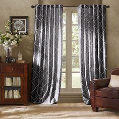 Bombay™ Garrison 95-Inch Rod Pocket/Back Tab Window Curtain Panel in Charcoal