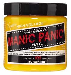Manic Panic Semi-Permament Haircolor Sunshine 4oz Jar (2 Pack) ** You can find out more details at the link of the image.