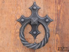 Door knocker, wrought iron.Zvekir, kovano gvozdje. Kolaček 1897