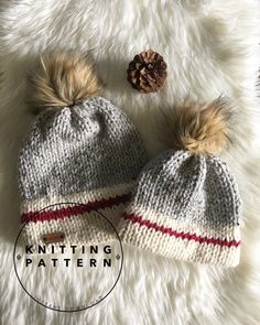 Crochet Beanie Ideas Love this knitting pattern for a Double Brim Hiker Beanie! Would be perfect for outdoor winter family pictures! Knitting For Kids, Knitting For Beginners, Loom Knitting, Knitting Patterns Free, Knit Patterns, Knitting Projects, Knitting Hats, Loom Knit Hat, Knitting Needles