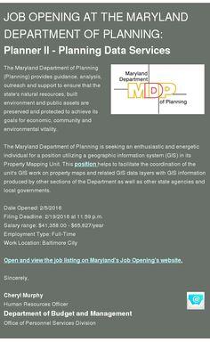 Maryland Department Of Planning Planningmd Profile Pinterest