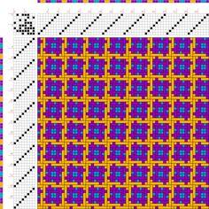 draft image: Figurierte Muster Pl. XXII Nr. 7, Die färbige Gewebemusterung, Franz Donat, 8S, 8T