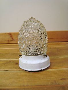 Vintage Exterior Outdoor Porch Light Fixture Bubble Glass Globe | eBay