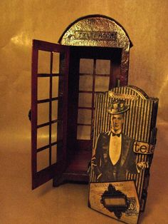 Graphic 45 Communique old English telephone booth and mini album