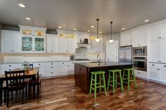 HIGHLAND HOMES Custom Home in Meridian, Idaho Meridian Idaho, Highland Homes, Functional Kitchen, Custom Homes, Kitchens, Table, Furniture, Home Decor, Decoration Home