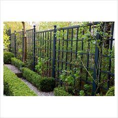 Black painted trellis/fence #1928
