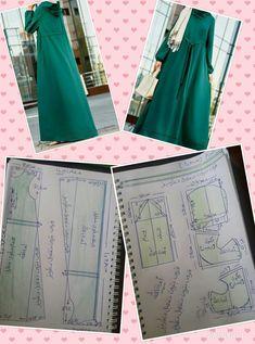 30 ideas sewing dress patterns free tunics for 2019 Long Dress Patterns, Dress Sewing Patterns, Sewing Patterns Free, Clothing Patterns, Free Pattern, Motif Abaya, Kaftan Pattern, African Print Dress Designs, Sewing Blouses