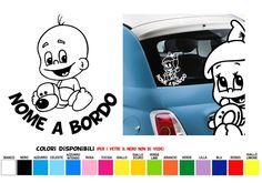 bimbo a bordo, adesivo auto con nome bimbo Snoopy, Fictional Characters, Fantasy Characters