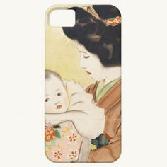 Mother and Child Shinsui Ito japanese portrait art iPhone 5 Cover