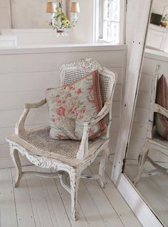 shabby painted chair