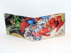Comic Book Wallet// New 52// Justice League// Green Lantern Hal Jordan, Cyborg, and Flash (Barry Allen), $3.50
