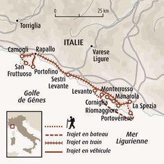 Circuit carte Italie : Le parc national des Cinque Terre