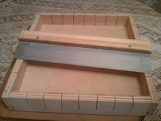 New Minimax  Wooden Soap Mold and Metal Cutter makes  48 mini bars or 24 standard  bars. $44.99, via Etsy.