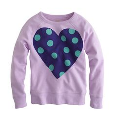 Crewcuts: Polka Dot Heart Sweatshirt