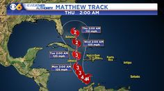 Matthew went from category two to category five status on Friday.