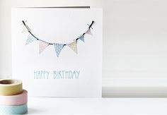 Washi Birthday Card - Trendenser.se