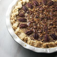 Pecan Pie with Bourbon & Brown Butter {recipes dessert pie holidays pecans bourbon butter}