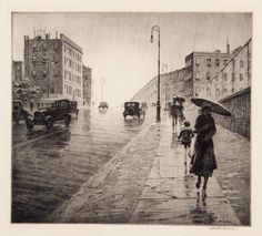 Rainy Day Queens, Martin Lewis, 1931