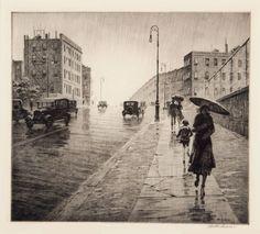 Rainy Day Queens, Martin Lewis, 1931