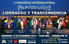 I CONGRESO  INTERNACIONAL PROPOSITO DE VIDA * 14 de diciembre* #México @TuPotencial @gscinf1 #coaching #liderazgo
