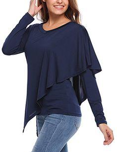 Women's Casual Long Sleeve Ruffle Tunics Shirt Top Navy B... https://www.amazon.com/dp/B074H6VMQ1/ref=cm_sw_r_pi_dp_x_kfL3zbW5HNWBB