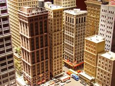 N scale city skyscrapers - this really isn't possible, in any of the larger scales, unless you have a gymnasium!!