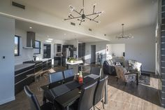 Large Open Plan Living - Kitchen - Dining Space Dining Room Inspiration, Open Plan Living, Kitchen Dining, Space, Interior Design, Table, Furniture, Home Decor, Floor Space