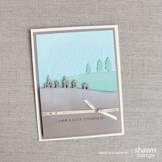 by Shawn: Cozy Christmas, Sleigh Ride Edgelits, Softly Falling embossing folder, & more - all from Stampin' Up!