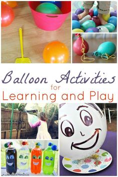 Balloon Activities for Learning and Play. Great kid activities for the summer! Science, gross motor, the works for children! Educational Activities For Kids, Gross Motor Activities, Indoor Activities For Kids, Preschool Activities, Preschool Education, Toddler Fun, Toddler Crafts, Crafts For Kids, Toddler Learning