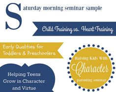 Schedule a Raising Kids With Character Seminar by Character Ink