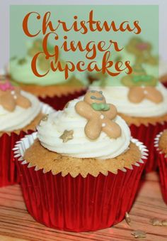 Christmas Ginger Cupcakes, simple recipe for a festive cupcake #cbias