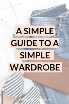 A Simple Guide to A Simple Wardrobe Do you feel overwhelmed by your closet? If so, this simple guide to a simple wardrobe can help! Step-by-step tips to help you create the minimalist wardrobe of your dreams. Fashion Tips For Women, Fashion Advice, Fashion Styles, Fashion Guide, Ethical Fashion, Slow Fashion, Curvy Fashion, Fashion Fashion, Fashion Trends